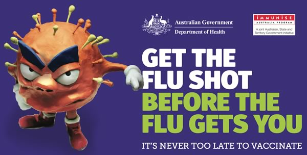 Get the flu shot immunisation today